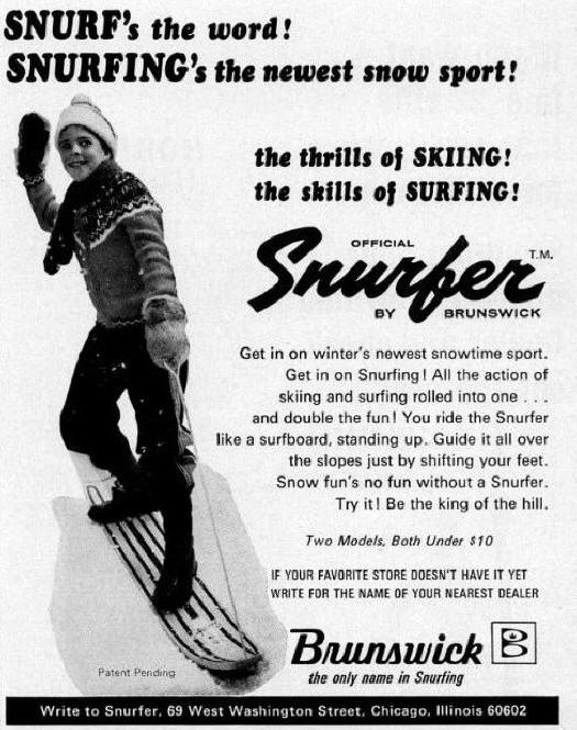 1966 Snurfer advertising Brunswick Muskegon