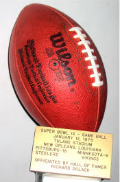 Super Bowl IX Football